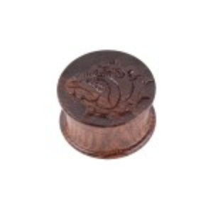 The Bulldog Amsterdam - Carved Rosewood Herb Grinder - 2 part